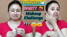 3 Minute Party Makeup Challenge ll Beautiful U