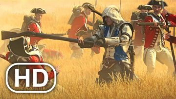 American Revolution War Battle Fight Scene Cinematic 4K ULTRA HD Assassins Creed 3 Cinematics