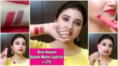 Blue Heaven Splash Matte Lipstick Review | @ 175/- by Beautiful U