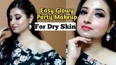 Easy Glowy Party Makeup For Dry Skin || Beautiful U