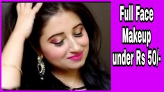 Full face makeup under Rs 50 by Beautiful U