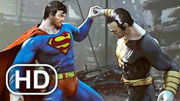 JUSTICE LEAGUE Superman Kills Black Adam Fight Scene Cinematic 4K ULTRA HD – DC Universe Online