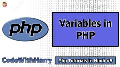 Php Variables | PHP Tutorial #5