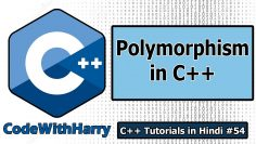 Polymorphism in C++ | C++ Tutorials for Beginners #54